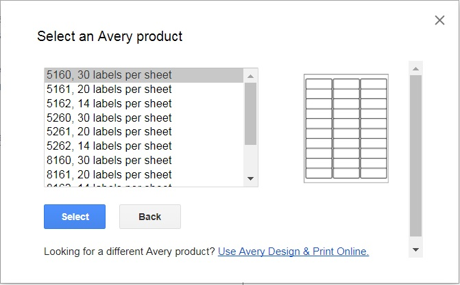 Merge Google spreadsheets to Avery labels – Real Floors help