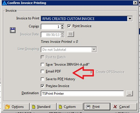 Emailing an invoice from RFMS – Real Floors help center
